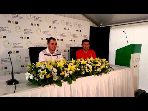 Asia-Pacific Amateur leader Antonio Murdaca chats to the media after round 2
