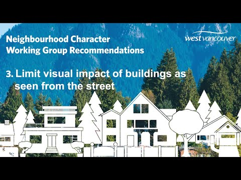 Recommendation 3: Limit visual impact of buildings as seen from the street