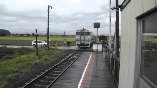 [JR北海道] 宗谷本線 国鉄型気動車キハ40 北永山駅通過