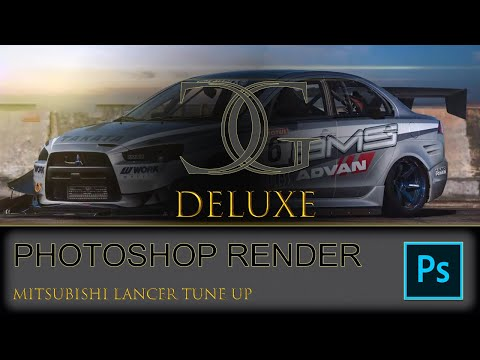 CGDELUXE  Adobe Photoshop Tutorial Mitsubishi Lancer Tune up thumbnail