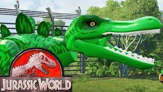 LEGO Jurassic World Прохождение - Серия 10 - МОБИЛЬНАЯ ЛАБОРАТОРИЯ мультик игра для детей