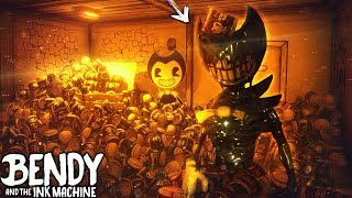 BENDY VS. BACON SOUP MINIGUN!! (it's back..)   Bendy and the Ink Machine [Hack Machine] Hacking