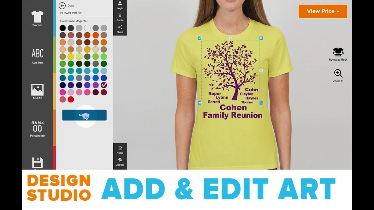 How to add edit art to your custom t shirts design for Custom t shirts add photo