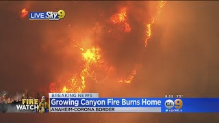 Mandatory Evacuations Ordered In Corona As Canyon Fire Threatens Homes