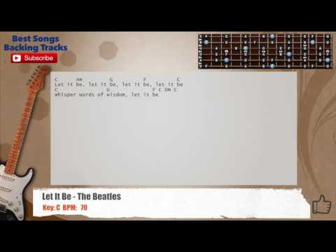 Let It Be - The Beatles  Guitar Backing Track with chords and lyrics