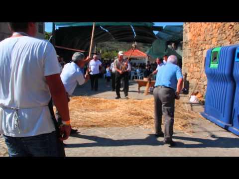 Festa do Pão 2015 em Carnicães. Malhar o Pão. 2