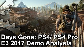 [4K] Days Gone PS4/ PS4 Pro E3 2017 Demo Analysis