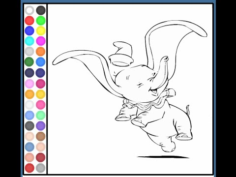 dumbo the elephant coloring pages dumbo coloring pages game - Dumbo Elephant Coloring Pages