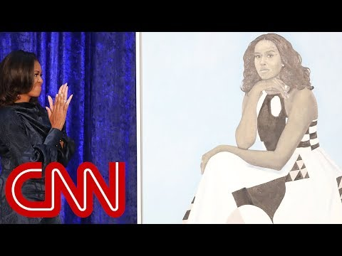 See Michelle Obama\'s portrait unveiled