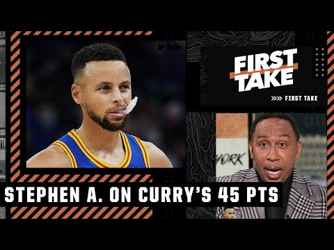 Steph Curry's 45-point Night Has Stephen A. Thinking FINALS For The Warriors 🏀   First Take