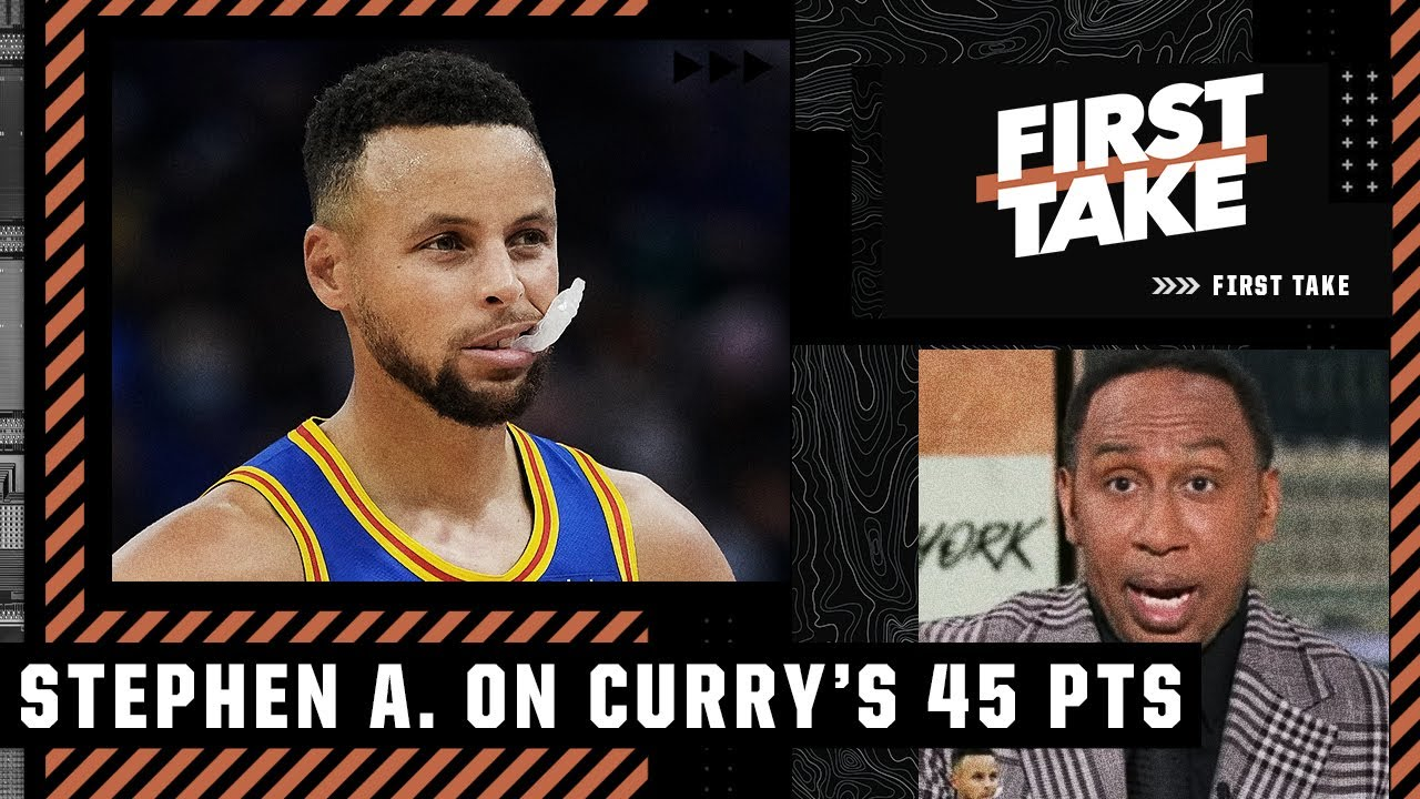 Download Steph Curry's 45-point night has Stephen A. thinking FINALS for the Warriors 🏀 | First Take