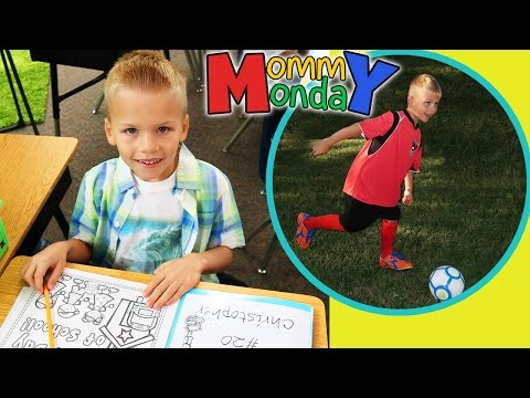First Day of School, First Day of Soccer || Mommy Monday