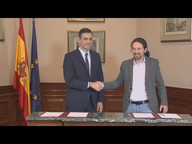 <span class='as_h2'><a href='https://webtv.eklogika.gr/ispania-psoe-kai-unidas-podemos-ypegrapsan-symfonia-gia-ton-schimatismo-kyvernisis-synaspismoy' target='_blank' title='Ισπανία: PSOE και Unidas Podemos υπέγραψαν συμφωνία για τον σχηματισμό κυβέρνησης συνασπισμού'>Ισπανία: PSOE και Unidas Podemos υπέγραψαν συμφωνία για τον σχηματισμό κυβέρνησης συνασπισμού</a></span>