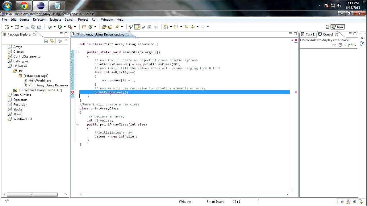 java how to make an array