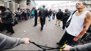 riding bmx in skid row la sketchy
