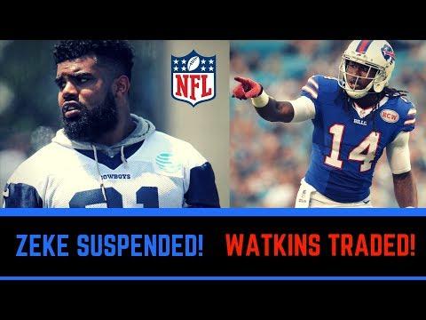 Ezekiel Elliott Suspended 6 Games & Bills Trade Watkins and Darby   NFL Live Discussion 8/11/2017