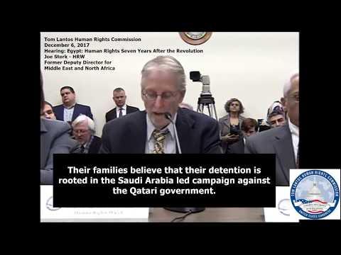 HRW Joe Stork Testimony - US Congress Tom Lantos Human Rights Commission