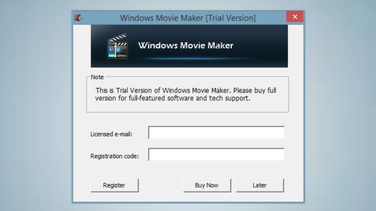 windows movie maker trial