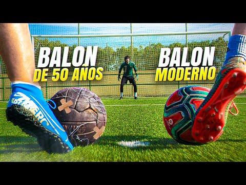 ⚽ BALÓN de 50 AÑOS vs BALÓN MODERNO ⚽ ¡Retos de Fútbol!