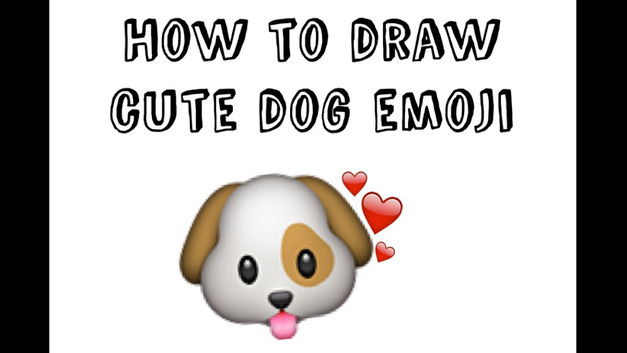 Best Tutorial How To Draw Dog Emoji For Kids Youtube