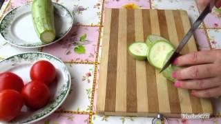 Вкусно   КАБАЧКИ с ПОМИДОРАМИ и СЫРОМ  Запеченные в Духовке Блюда из КАБАЧКОВ