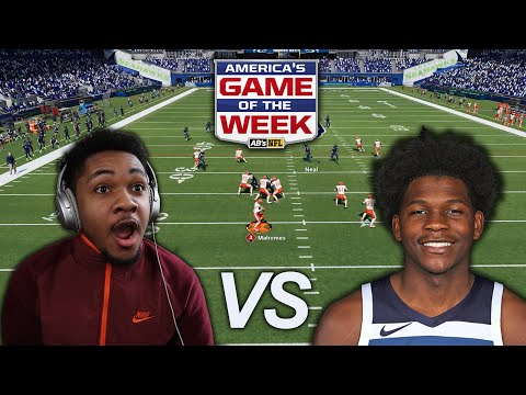 NBA ROOKIE ANTHONY EDWARDS CALLED ME OUT TO A GAME OF MADDEN! A NEW RIVALRY HAS BEGUN!