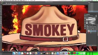 Digital Painting Time Lapse (Smokey The Bear)