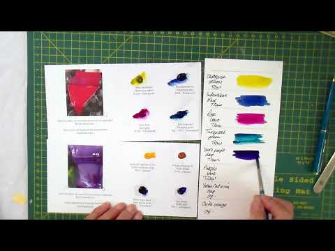 FREE swatches of watercolour paints, let's have a look at them.