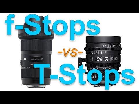 f/Stops vs T/Stops