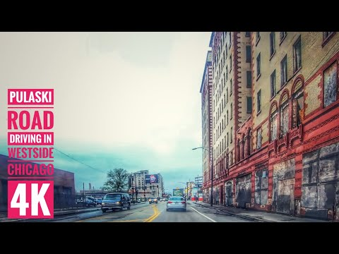 Driving In Chicago 4K: Streets Of The Americas : Pulaski Road