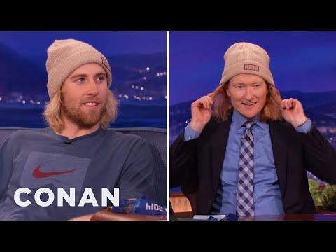 Sage Kotsenburg Gives Conan A Snowboarder Makeover
