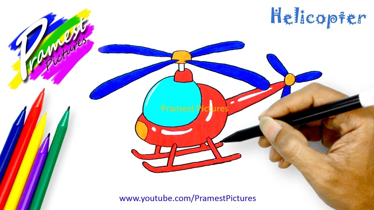 How To Draw Helicopter
