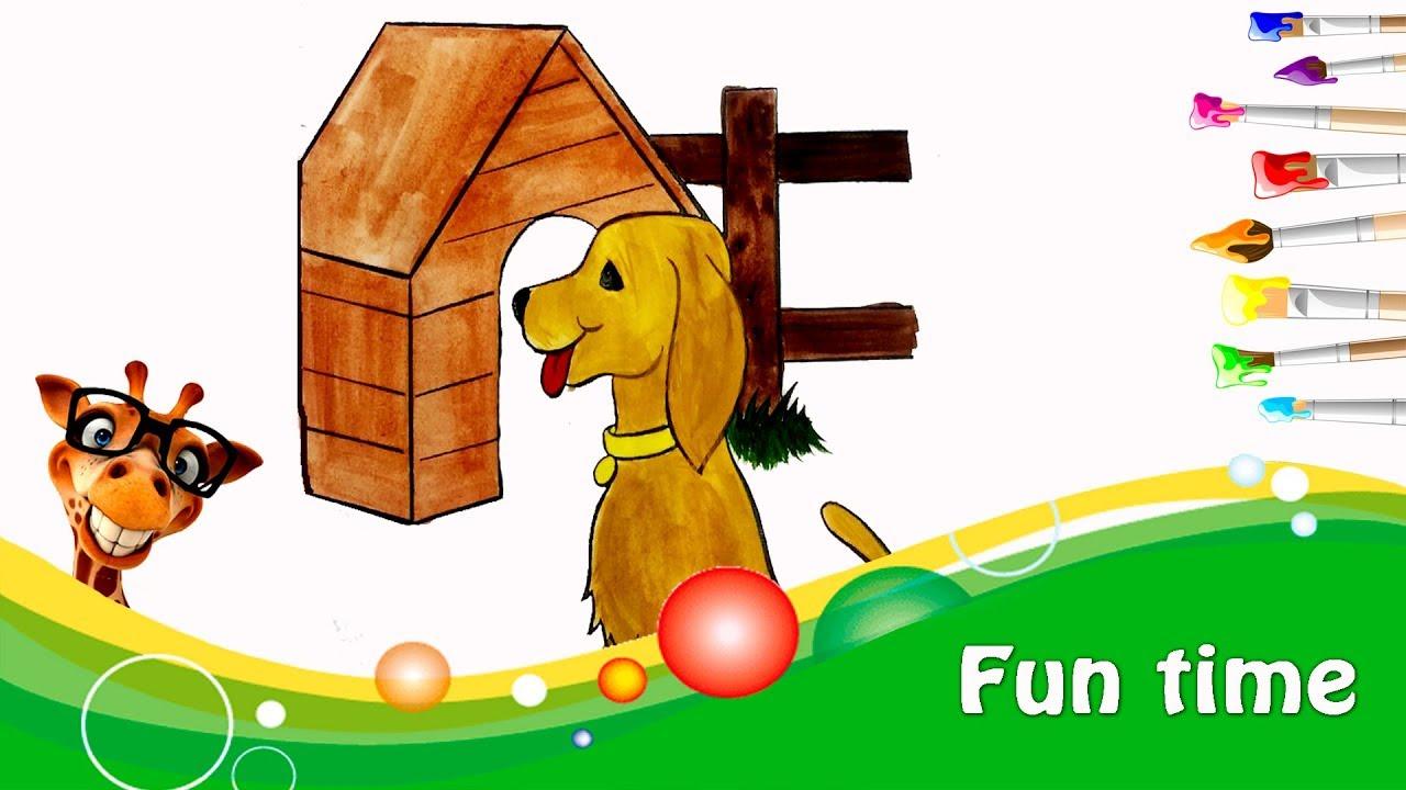 Раскраска АКВАРЕЛЬЮ собаки щенка DOG | LONI FUN TIME - YouTube
