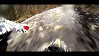 "Kalle ""KJ"" Johansson from Slednecks - Snowmobile River Step-Up"