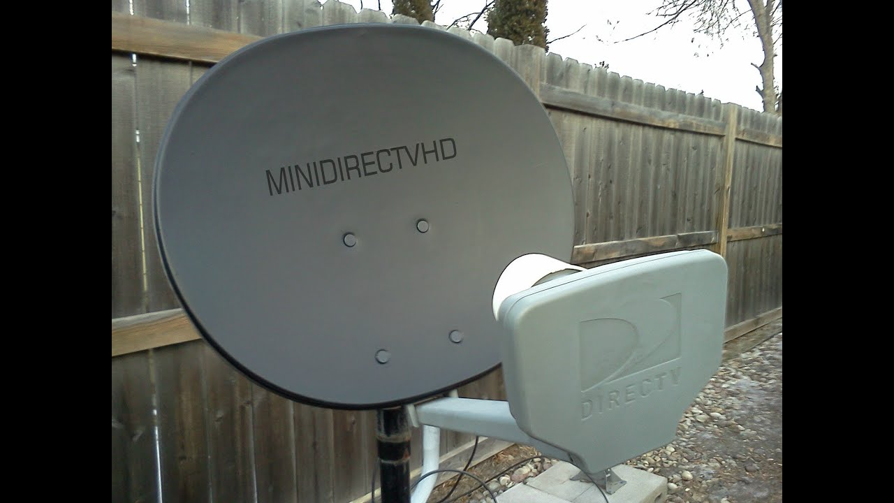 Black Mini Hd Directv Satellite Dish