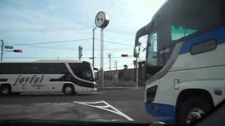 ジョイフル観光のバス 東関道富里IC入口にて DSCN9377