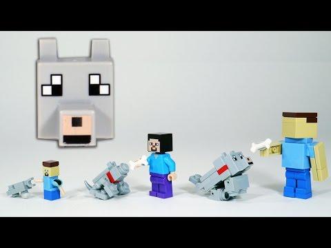 How to Build LEGO Minecraft Wolf / Dog