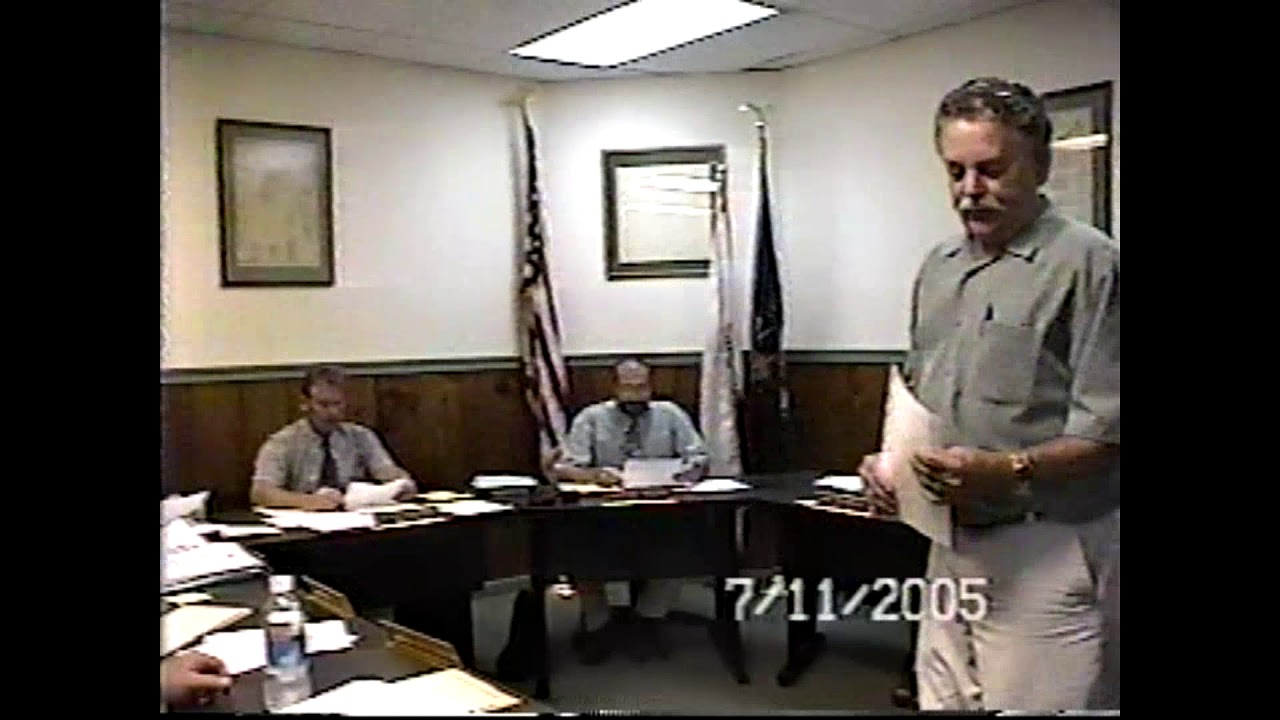 Champlain Village Board Meeting  7-11-05