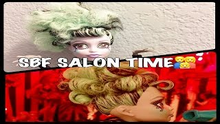 RESTYLE TWYLA Frizzy Box Head to Decent Up Do Episode #5 / SBF SALON TIME / Monster High Redo