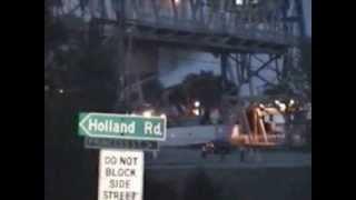 boat hitting bridge in port robinson