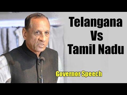 Governor Speech Controversy : states of  Telangana E. S. L. Narasimhan | Chennai Express Tv