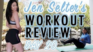 JEN SELTER WORKOUT CHALLENGE DAY 20 | My Fitness & Weight Loss Transformation | Fitplan App
