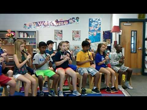 Three Blind mice 5th grade recorder