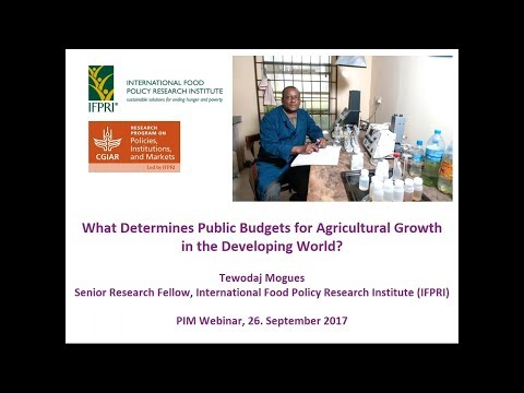What determines public budgets for agricultural growth in the developing world?