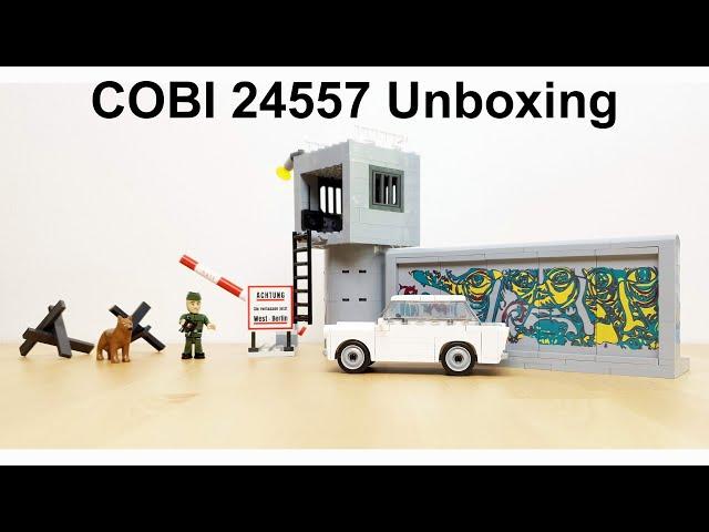 COBI 30 Jahre Ende der Berliner Mauer mit Trabant 601 (COBI Set 24557) Unboxing / Review