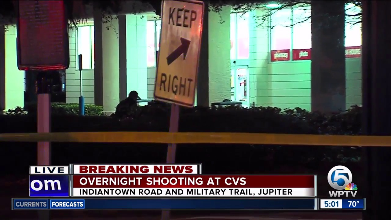 shooting outside jupiter cvs injures person youtube