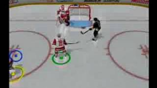 NHL HITZ 2003 PS2 game play goals fights highlights @A&C Games Night