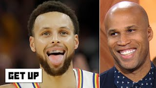 Richard Jefferson marvels at Steph Curry's highlights in his return to the Warriors | Get Up