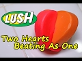 LUSH - Two Hearts Beating As One Luxury Bath Melt - DEMO - Underwater - REVIEW Valentines day 2017