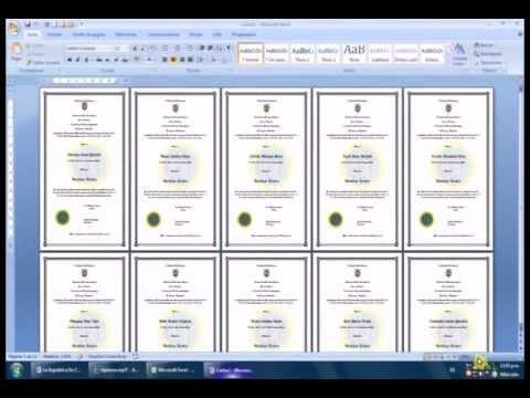 formatos de diplomas en word